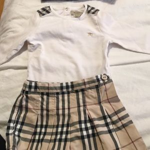 Burberry kids too and skirt/short